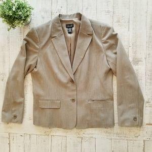 Rafaella Plus Size Two Button Front Blazer Jacket